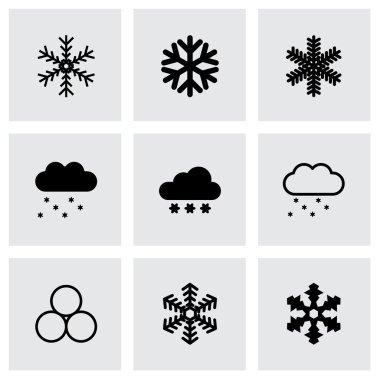 Vector snow icon set