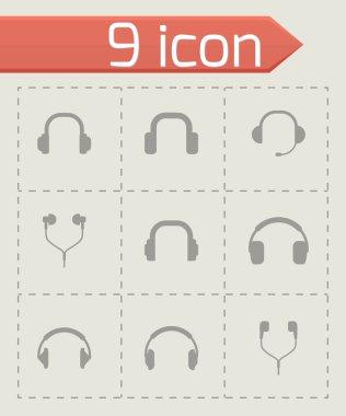 Vector headphone icon set