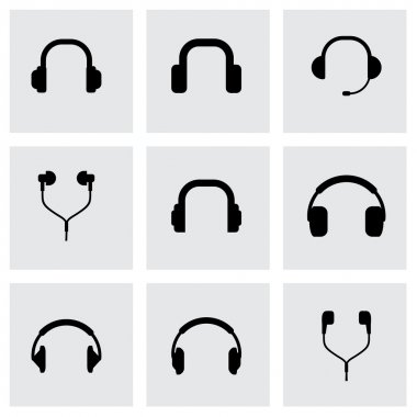 Vector headphone icon set