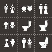 Fotografie Vektorový WC sada ikon