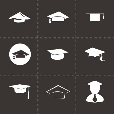 Vector academic icon set