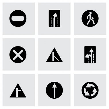 Vector road element icon set