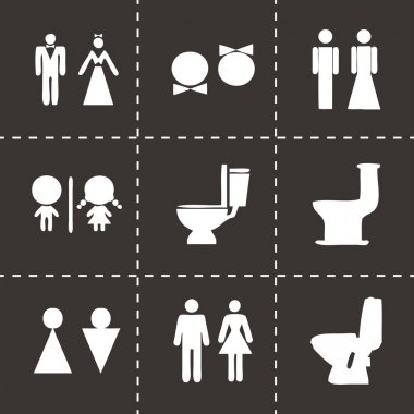 Vector toilet icon set