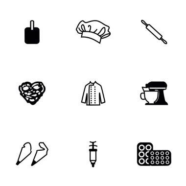 Vector Bakery icon set