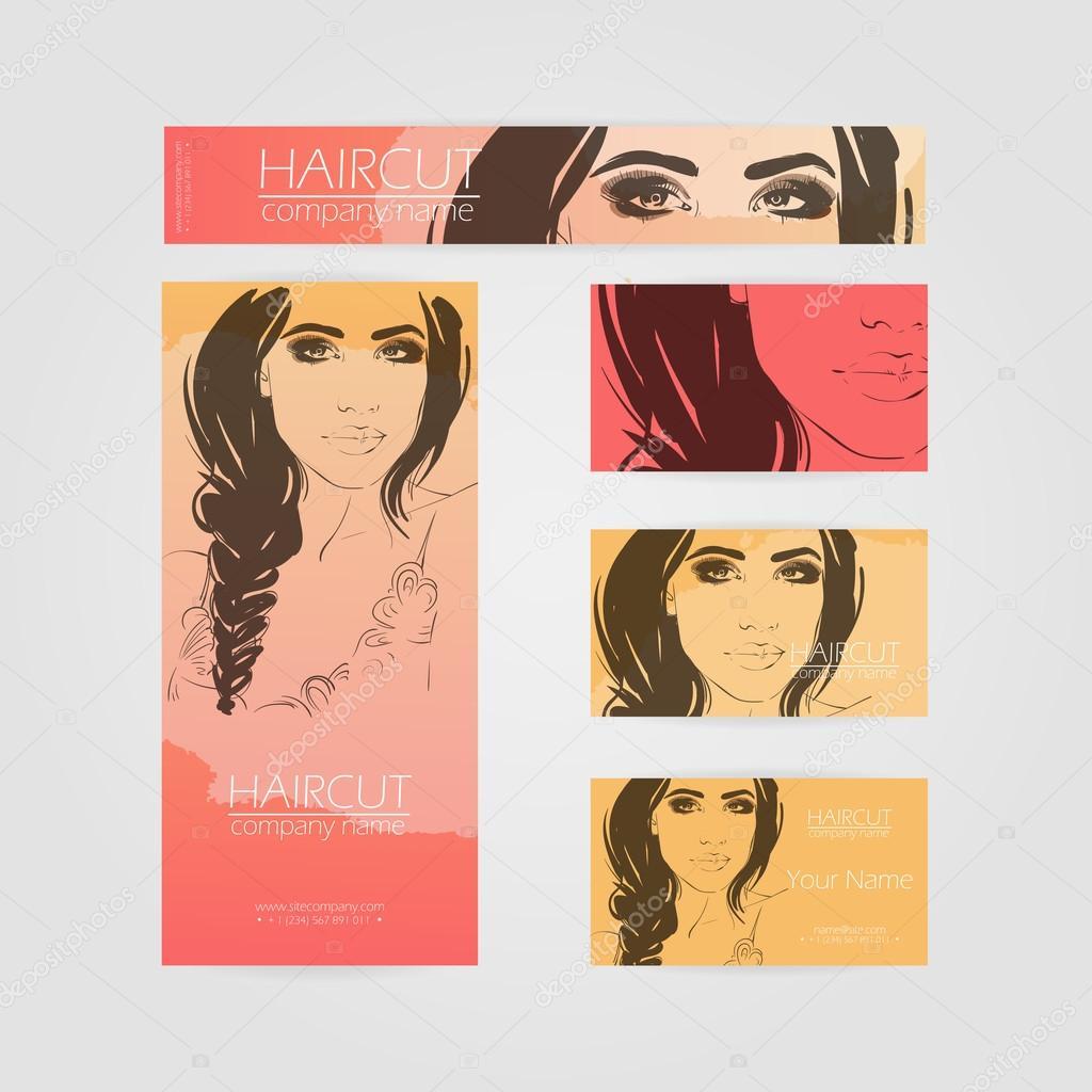 Alternative fashion color c design business cards for hairdresser ...