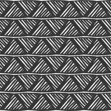 Designs for fabric and printing.Black and white tribal slavic folks vector seamless pattern. Geometric print. Ethnic hipster backdrop. Hand drawn.