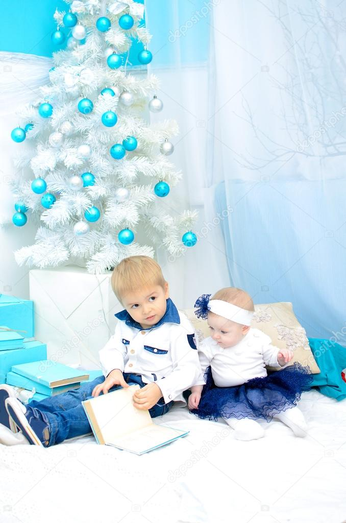 Kids in New Year interior