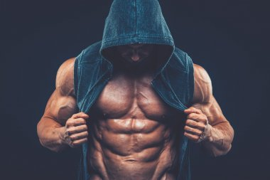Man with muscular torso. Strong Athletic Men Fitness Model Torso