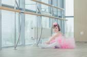 Fotografie Entzückenden Kind Tanzen Ballett im studio