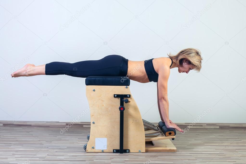Combo wunda pilates chair woman fitness yoga gym exercise
