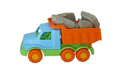 The truck with stones