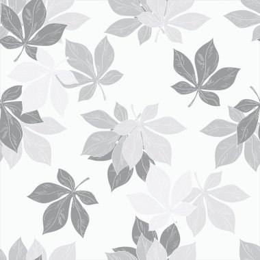 Background of chestnut leaves