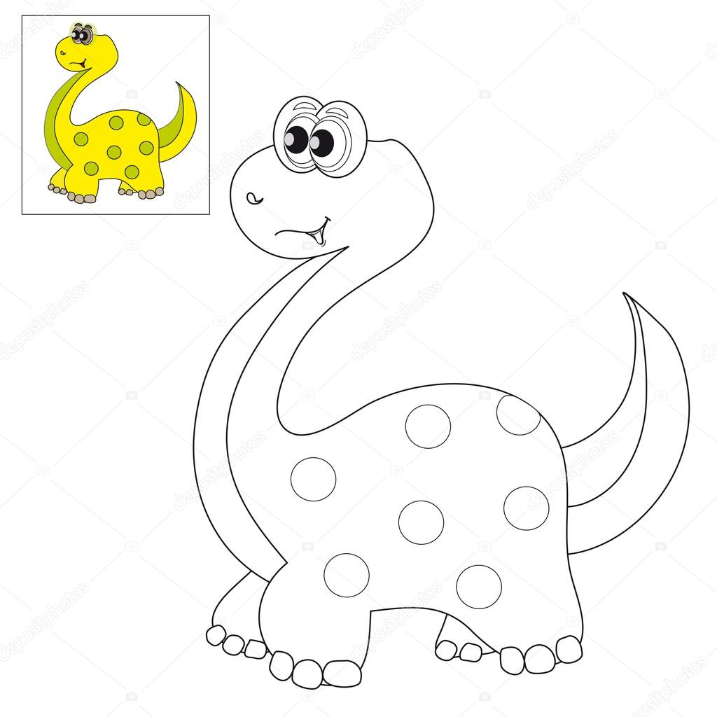 Picture For Coloring A Dinosaur Stock Vector C Ozii45 87986582