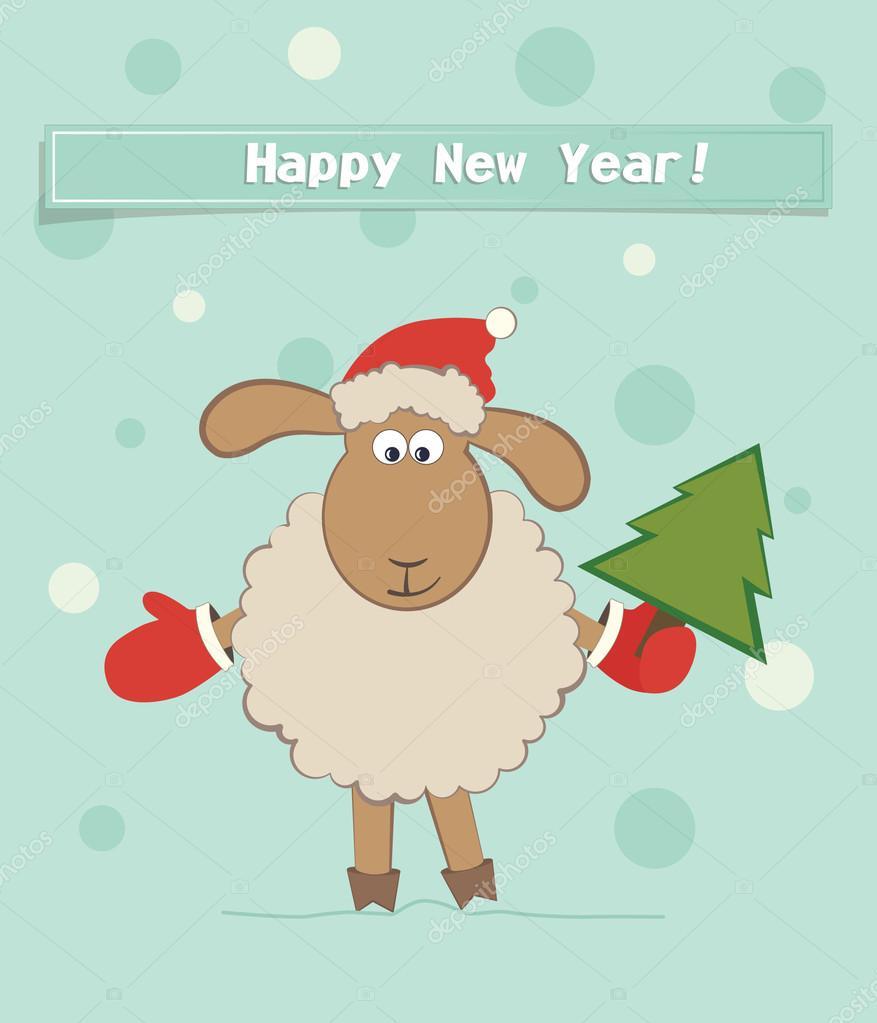 Анимированные, открытки в год овечки