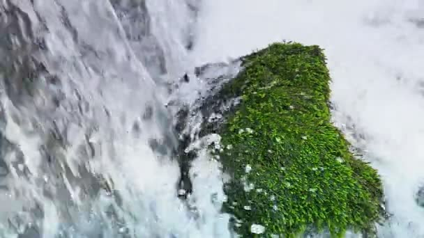 Power of Nature - Magnificent Waterfall in Closeup in a Beautiful Nature