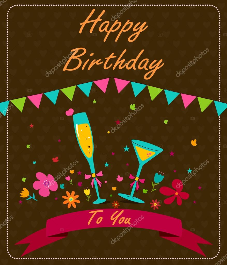 Greetings For Happy Birthday Stock Vector Stockillustration