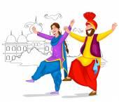 Tanzendes Punjabi-Paar