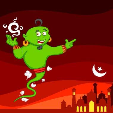 Genie wishing Eid mubarak