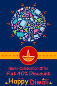 Šťastný Diwali sleva prodej propagace