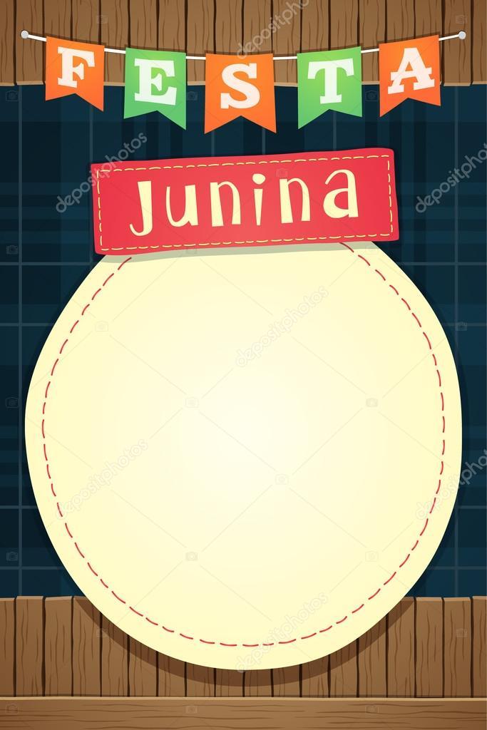 Festa Junina Brazilian June Party Template Or Invite A5 Vector Image By Imagetico Vector Stock 114048244