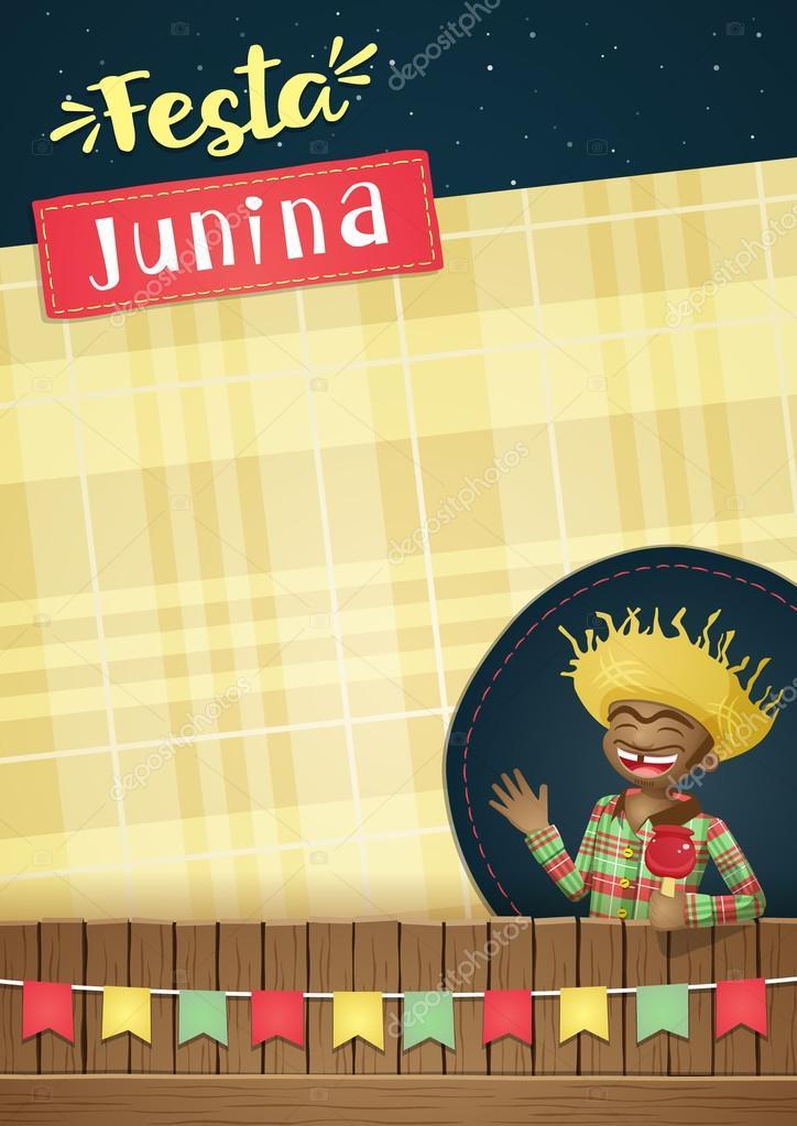 Festa Junina Brazilian June Party Template Or Invite A5 Stock Vector Imagetico 114048252