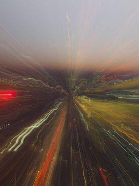 abstract light streak zoom burst pattern for background