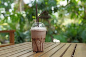 Photo cold drink chocolate frappuccino