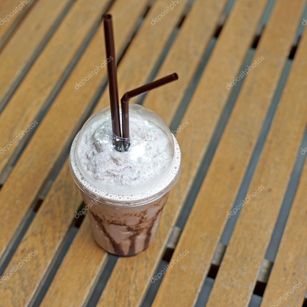cold drink chocolate frappuccino