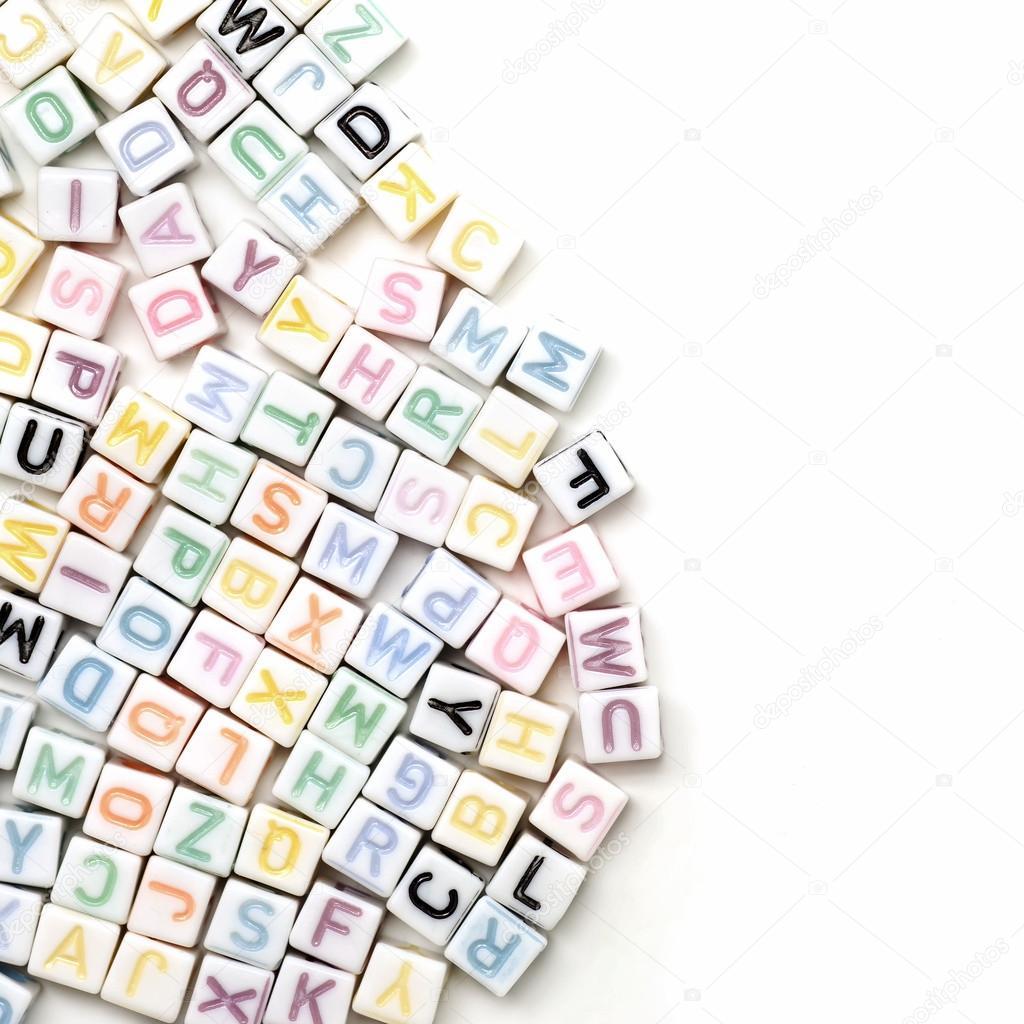 Alphabet Anglais Abc Comme Toile De Fond Photographie