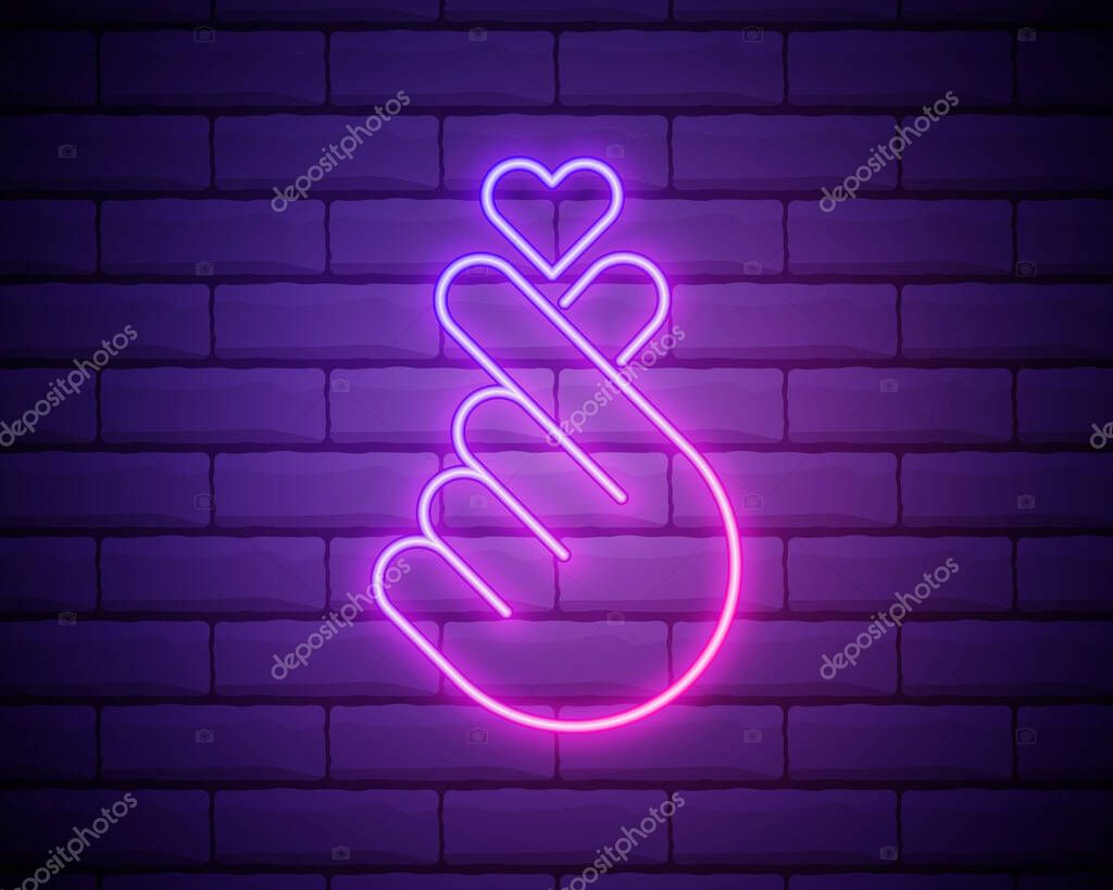 K-POP neon sign icon