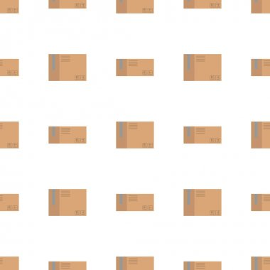 Cardboard boxes icon. flat illustration of delivery truck vector pattern for web icon