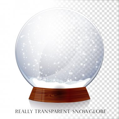 Transparent Christmas magic snowglobe