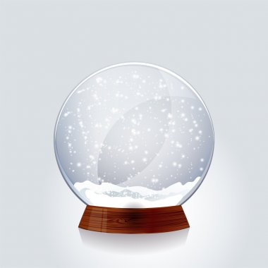 Transparent Christmas magic snowglobe