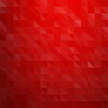 Abstract geometric background red triangle clip art vector