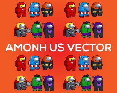 Among us parody vector file | Editable file icon