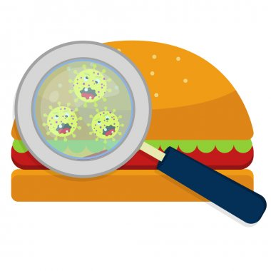 Hamburguer with germs