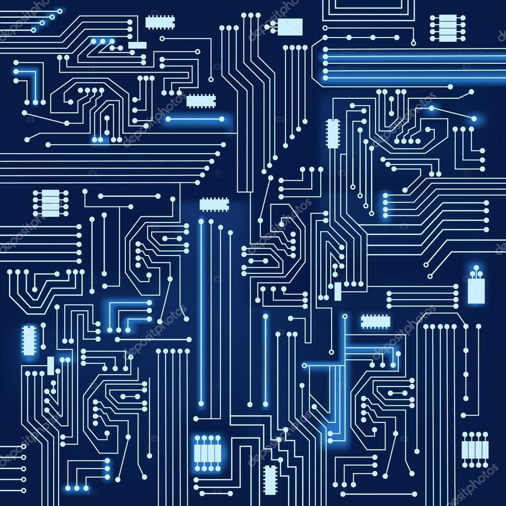 Circuito Eletronica : Fundo de circuito eletrônico — vetor stock drical