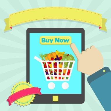 Buy shopping cart full of vegetables