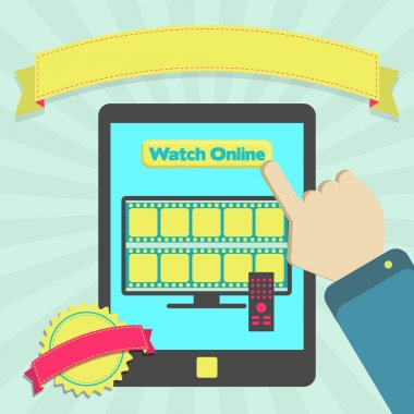 Watch online through tablet