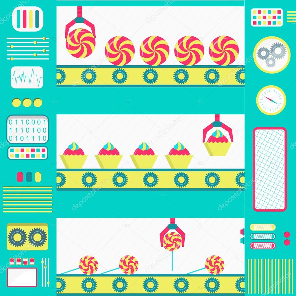 Series production of sweets