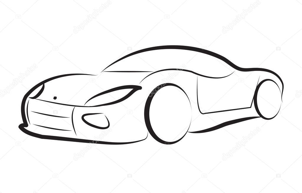 Car Silhouette Logo Sketch Vector U2014 Stock Vector U00a9 Amelie1 #111959096