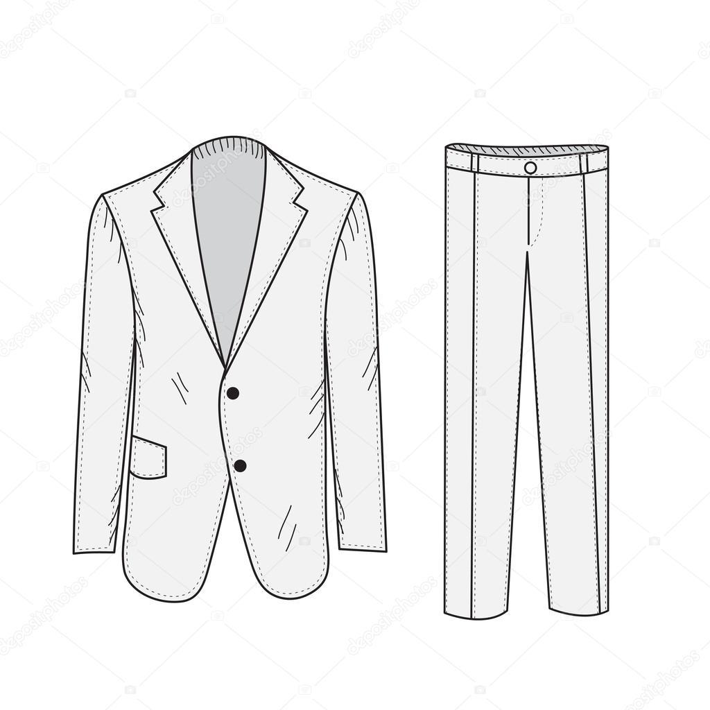 como esboço de negócio terno do escritório no estilo de desenho de