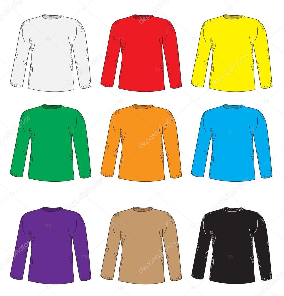 Camisas para hombres t diseño conjunto de plantillas. Camiseta ...