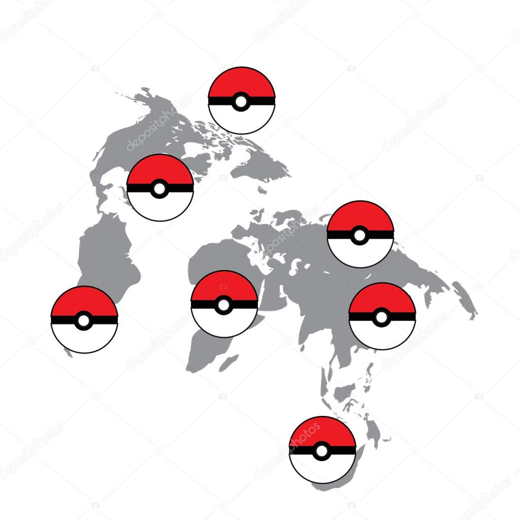World map navigation ball on the world map the game on the phone world map navigation ball on the world map the game on the phone gumiabroncs Image collections