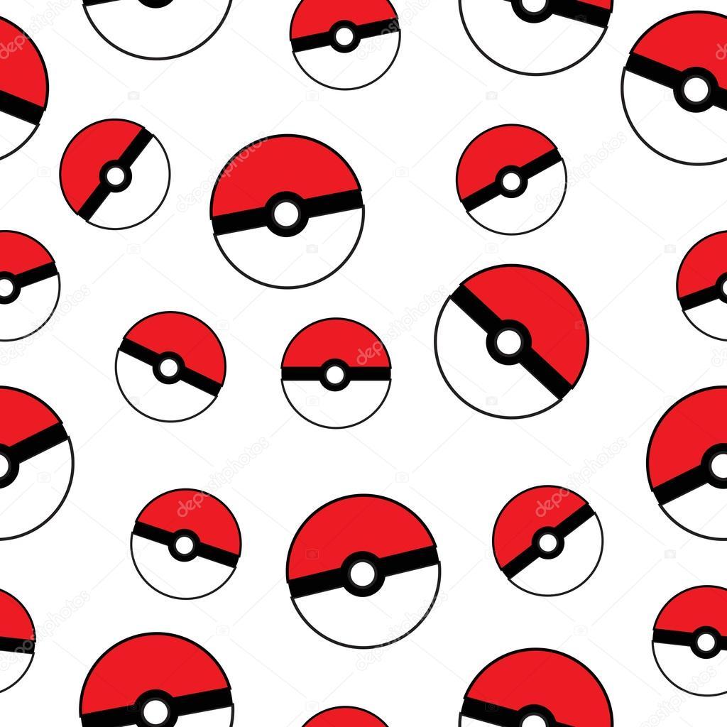 pokemon go pokeball seamless texture ball background