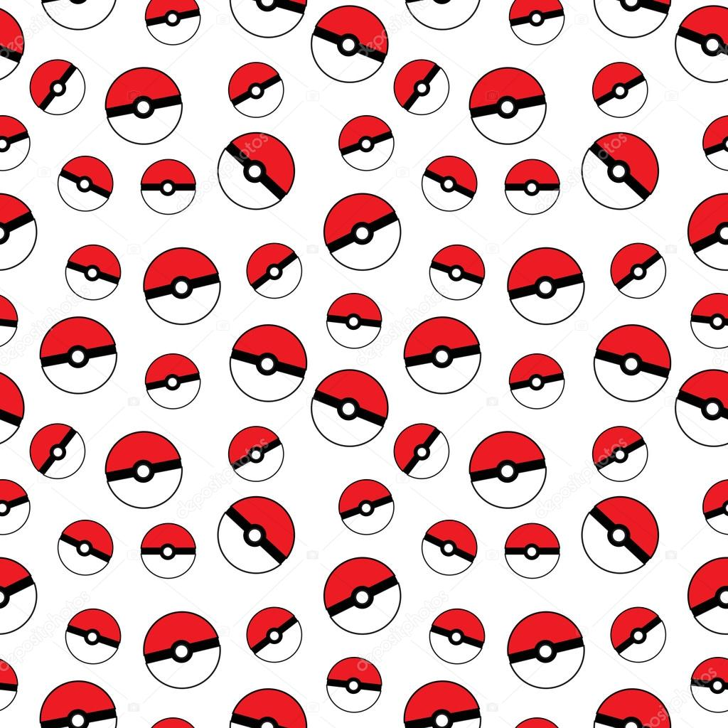pokemon go pokeball seamless texture ball background