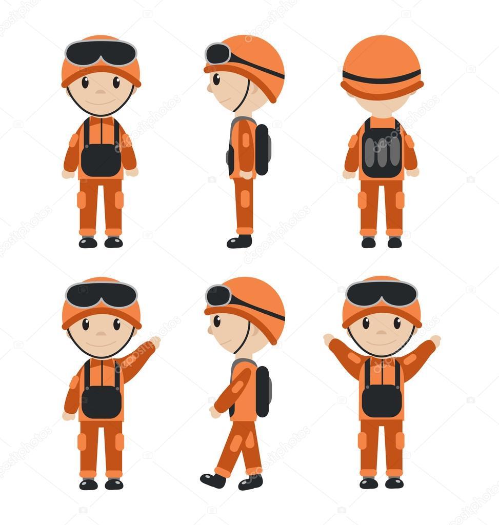 personagem de desenho animado do trabalhador soldado trabalhador