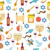 Seamless pattern, texture for the Jewish new year. Rosh Hashanah, Shana Tova background wallpaper. Vector illustration.