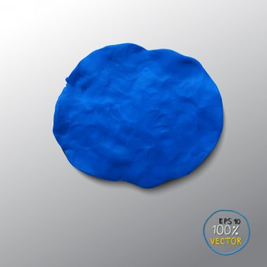 Plasticine blue figure