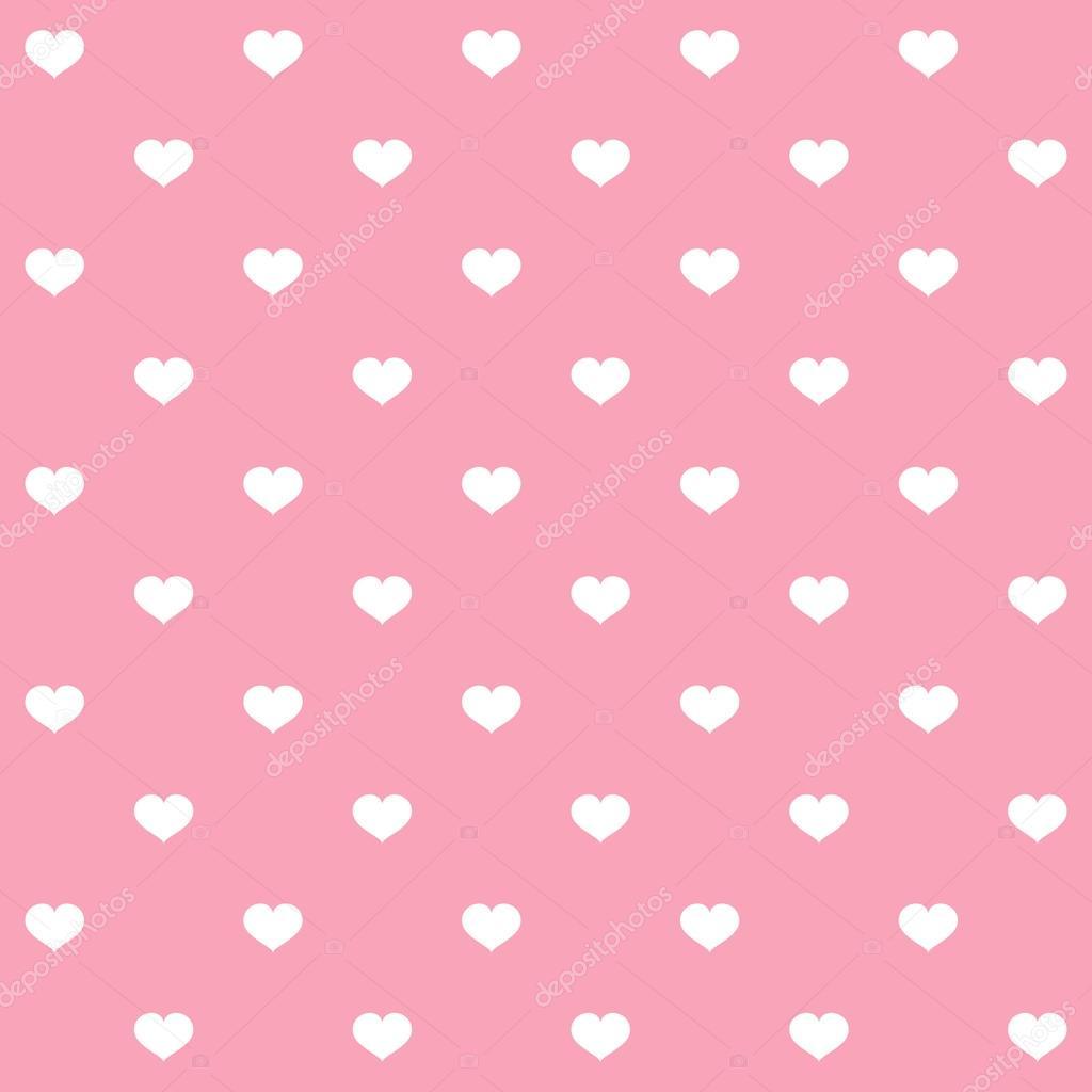 Sfondo Rosa A Pois Bianchi Cuori Di Pois Bianchi Su Sfondo Rosa